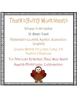 Thanksgiving Worksheets Packet