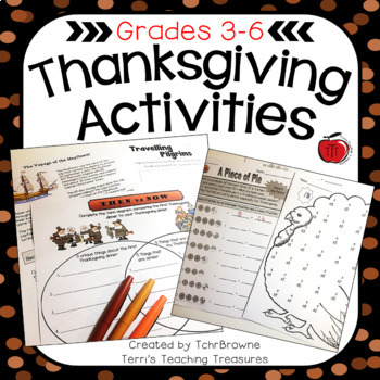 Thanksgiving Worksheets and Activities: Intermediate Grades