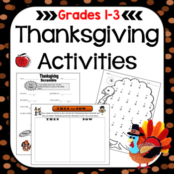 thanksgiving worksheets and activities primary grades by tchrbrowne. Black Bedroom Furniture Sets. Home Design Ideas