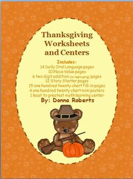 Thanksgiving Worksheets and Learning Centers