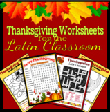 Thanksgiving Worksheets for the Latin Classroom- Bundle!