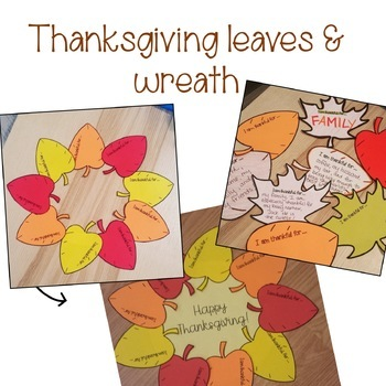 Thanksgiving Wreath and Leaves ~ Thankful, Grateful