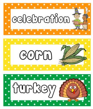 Thanksgiving Write And Erase Vocabulary