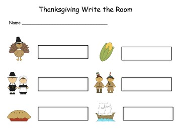 Thanksgiving Write Around the Room 1