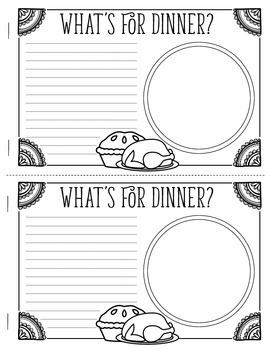 Thanksgiving Write & Illustrate Booklet