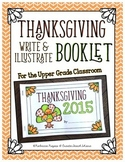 Thanksgiving Write & Illustrate Booklet