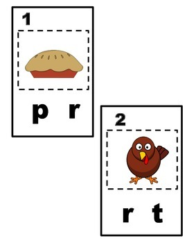 Thanksgiving Write The Rooms (Beginning Sounds and Numbers 1-10)