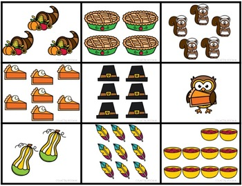 Thanksgiving Write The Room November | Fall Math Centers | Numbers to 10