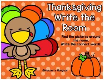 Thanksgiving Write a Room