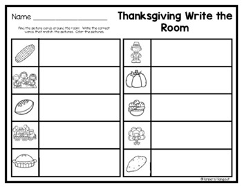 Thanksgiving Write a Room
