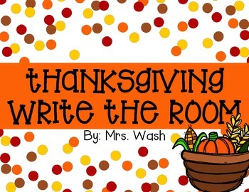 Thanksgiving Write the Room Freebie