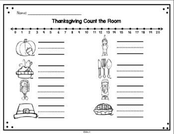 Thanksgiving Write AND Count the Room