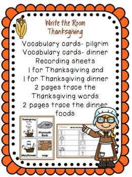 Thanksgiving- Write the Room