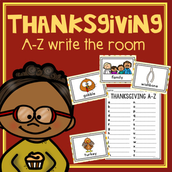 Thanksgiving Write the Room A-Z