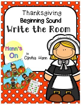 Thanksgiving Write the Room Beginning Sounds