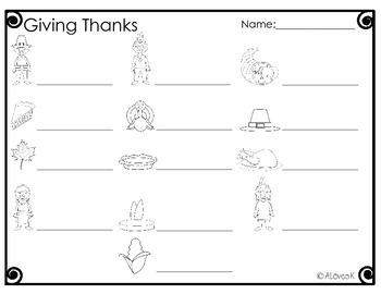 Thanksgiving Write the Room Bundle