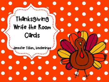 Thanksgiving Write the Room Cards