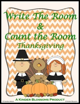 Thanksgiving: Write the Room / Count the Room Centers