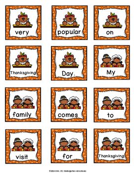 Thanksgiving Write the Room - Differentiated