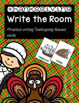 Thanksgiving Write the Room *Easy Prep!*