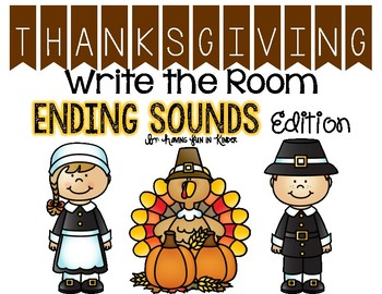 Thanksgiving Write the Room - Ending Sounds Edition