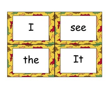 Thanksgiving Vocabulary/Sight Word - Write the Room/Sentence Fill In