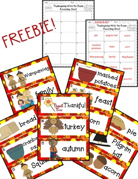 Thanksgiving Write the Room *FREEBIE*