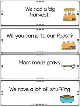 Thanksgiving Write the Room Kindergarten - 2 (Differentiated)