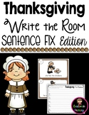 Thanksgiving Write the Room - Sentence Fix Edition