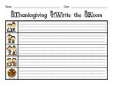 Thanksgiving Write the Room Sentences