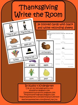 Thanksgiving-Write the Room Set