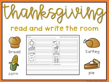 Thanksgiving Write the Room Set (QR codes included)