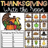 Thanksgiving Write the Room Kindergarten Activity