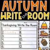 Thanksgiving Write the Room Kindergarten