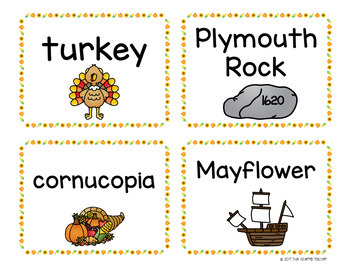 Thanksgiving Write the Room and ABC Order