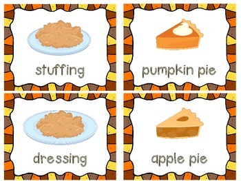 Thanksgiving Write the Room and Vocabulary