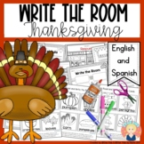 Thanksgiving Write the Room in English and Spanish for K-1