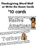 Thanksgiving Write the room/Word wall cards