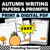 FREE Thanksgiving Writing Papers ELA Literacy Center Activities