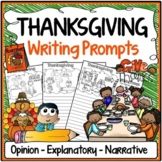 Thanksgiving Writing Prompts {Narrative Writing, Informative & Opinion Writing}