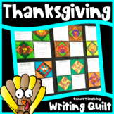 Thanksgiving Writing Prompts Quilt: I am Thankful for: Tur