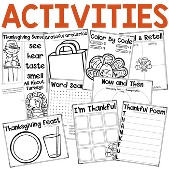 Thanksgiving Activities-Writing, Flipbooks, Printables, and More