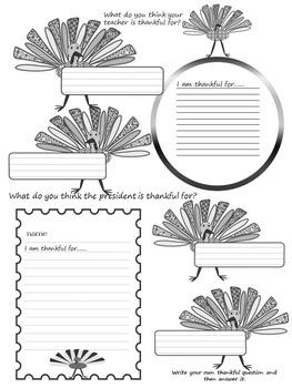 Thanksgiving Writing - Activity - Bulletin Board Decorations