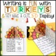 Thanksgiving Writing: 3-D Turkeys