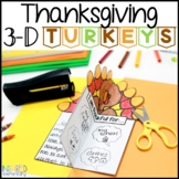 Thanksgiving Writing Activities 3-D Turkeys