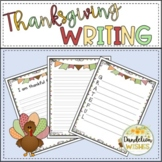 Thanksgiving Writing and Acrostic Poems Paper for Fall