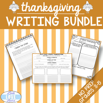 Thanksgiving Writing Activites