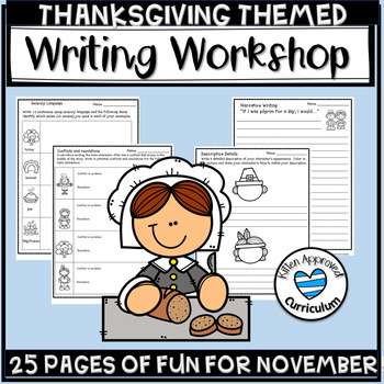 Thanksgiving Writing Activities 3rd, 4th, and 5th Grade