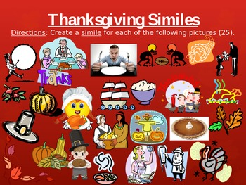 Thanksgiving Writing Activities PPT