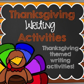 Thanksgiving Writing Activities Pack